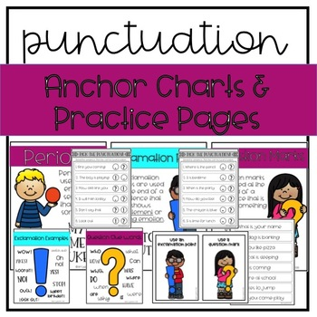 Punctuation Paddle Pack- Periods, Question Marks & Exclamation Points