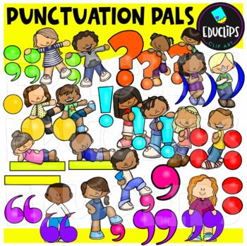 Punctuation Pals Clip Art Bundle {Educlips Clipart}