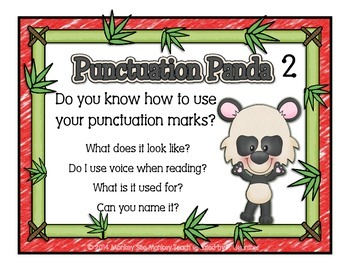 Punctuation Panda 2 ( Introduction of Voice Usage)Extension Activity
