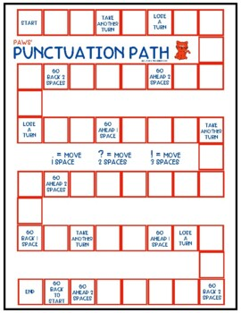 Punctuation Path: A Game for Practicing Ending Punctuation