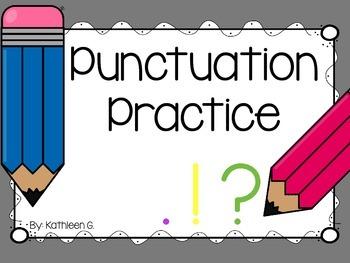 Punctuation Pencil Practice