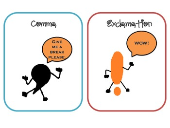 Punctuation People Cue Cards