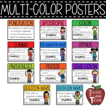 Punctuation People Posters