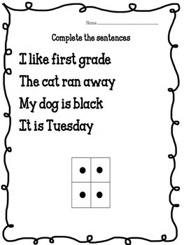 Punctuation Periods Worksheet