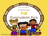 Fall Punctuation Pick! Sentence Practice (Literacy Center/