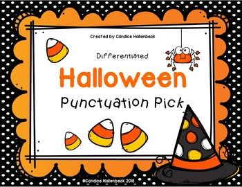 Halloween Punctuation Pick! Sentence Practice (Literacy Center/Group Work)