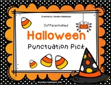 Halloween Punctuation Pick! Sentence Practice (Literacy Ce
