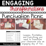 Punctuation Picnic | Types of Sentences | Engaging Room Transformation