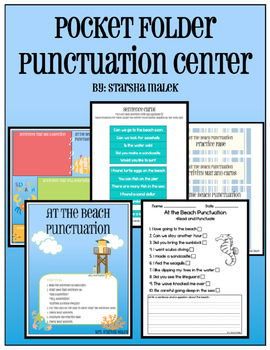 Punctuation Pocket Folder Center