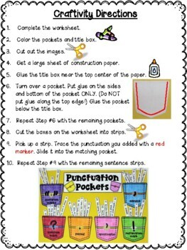 Punctuation Pockets Craftivity