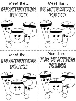Punctuation Police Anchor Charts and Mini Books