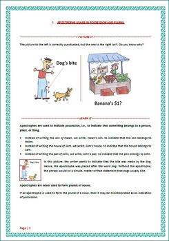 Learning Pack 1 - Apostrophe Usage