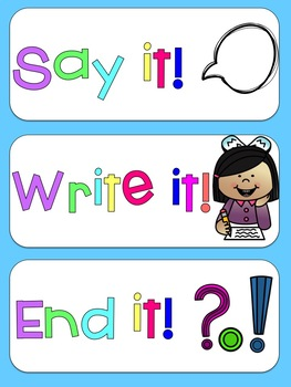 Punctuation Poster--Say it, Write it, End it!