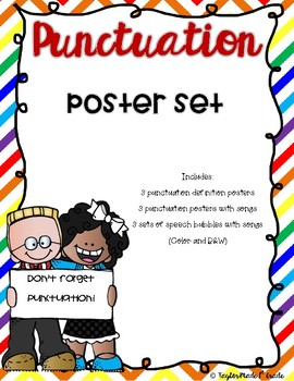 Punctuation Poster Set - with songs!