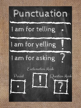 Punctuation Poster and Anchor Chart