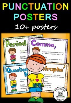 Punctuation Posters – 10+ posters/printables