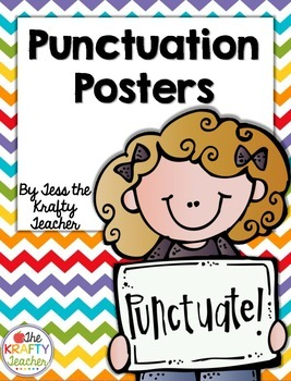 Punctuation Posters, Second, Third, Fourth, Rainbow Chevron