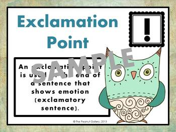 Punctuation Posters (Artsy Owl Theme)
