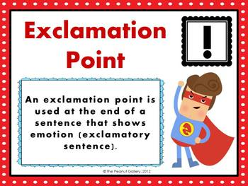 Punctuation Posters (Be a Sentence Superhero!)