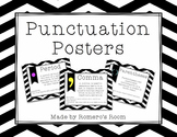 Punctuation Posters - Black Chevron and Neon