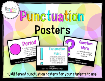 Punctuation Posters Brights