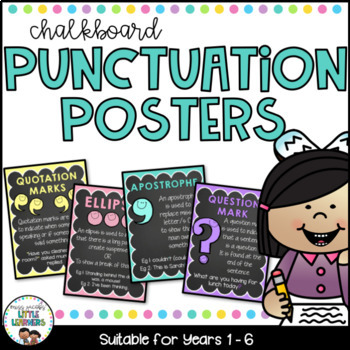 Punctuation Posters {Chalkboard}
