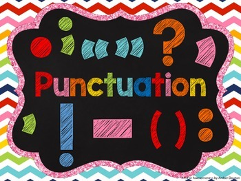 Punctuation Posters: Chalkboard Style
