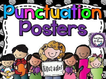 Punctuation Posters (Colored Polka Dots)