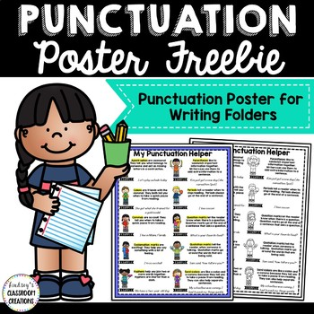 Punctuation Posters For Student Writing Folders