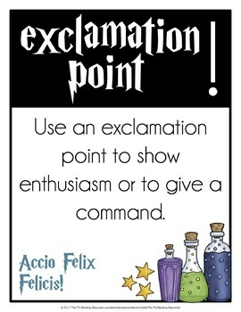 Punctuation Posters {Harry Potter Theme}