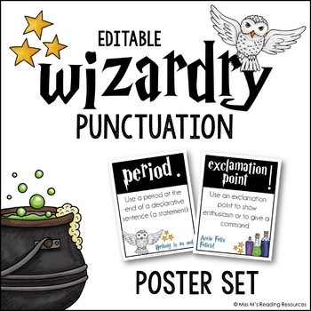 Punctuation Posters {Wizardry Theme}