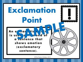 Punctuation Posters (Hollywood/Movie Theme)