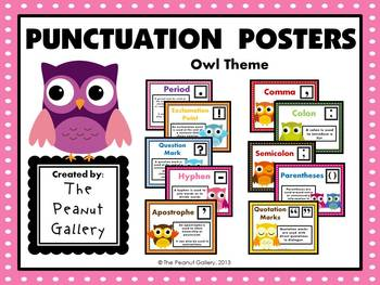 Punctuation Posters (Owl Theme)