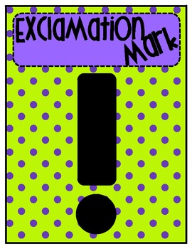 Punctuation Posters- Polka Dot Pizazz