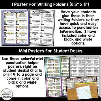 Punctuation Posters, Punctuation Banner, and Mini Student Punctuation Helper