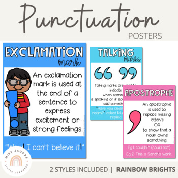 Punctuation Posters Rainbow Theme