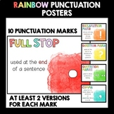 Punctuation Posters (Rainbow Watercolour)