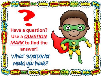 Punctuation Posters- Superhero Theme