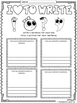 Punctuation Posters & a Freebie