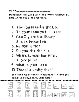 Punctuation Posters and Activity Pages