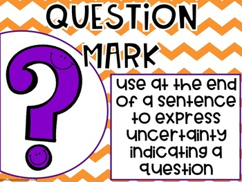 Punctuation Posters, comma, period, question mark, etc.