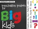 Punctuation Posters for BIG KIDS!