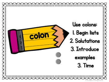 Punctuation Posters for Back to School