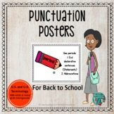 Punctuation Posters for Back to School White or Distressed