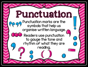Punctuation Posters for Big Kids