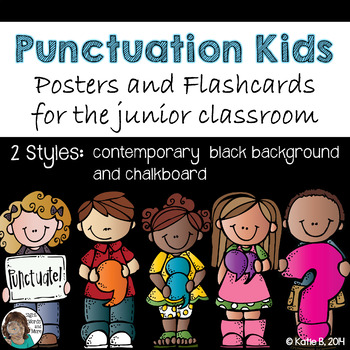 Punctuation Posters in Chalkboard for Junior Classrooms
