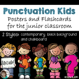 Punctuation Posters for Junior Classrooms (Black and Chalkboard)