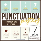 Punctuation Posters in 3 different colors