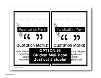Punctuation Marks Poster Set (with Interactive Notebook Option)