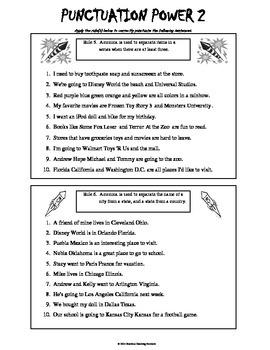 Punctuation 2 - 4th Grade Common Core & Oklahoma Academic Standards